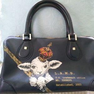 LAMB Black Crown Williamsfield Handbag Satchel